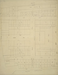 [A drawn plan of the property of the Duke of Norfolk in the Strand, showing plan of Arundel House and garden in 1720]